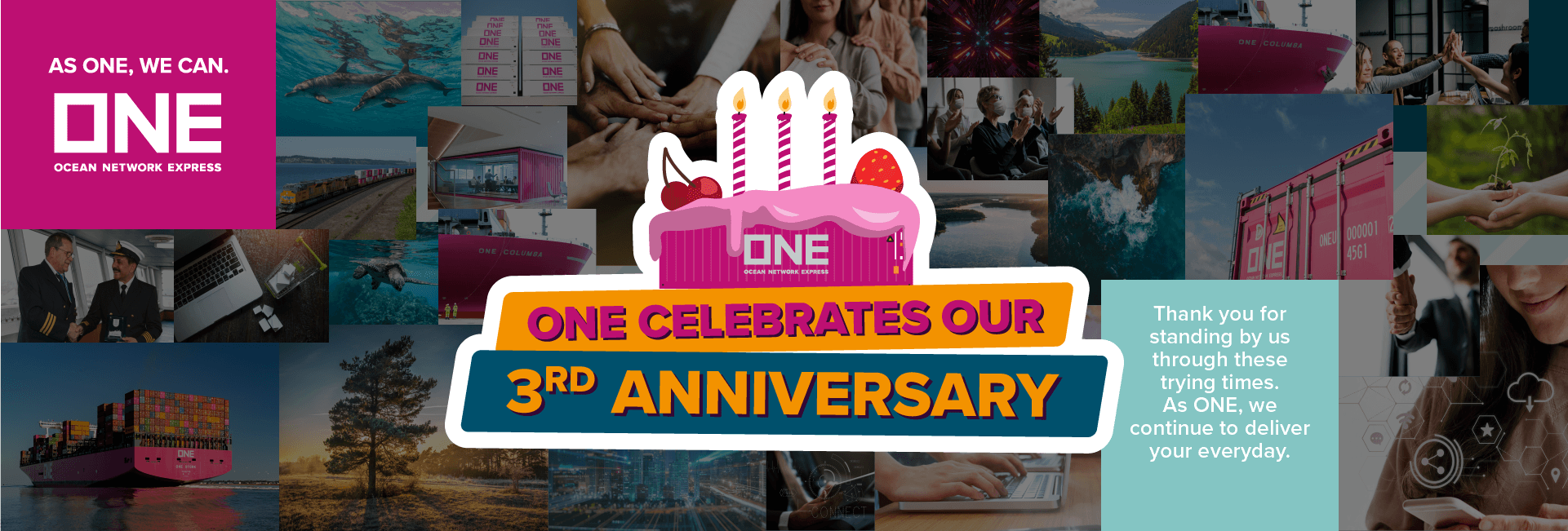 ONE Third anniversary